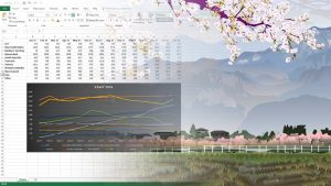 excel-software-graphic-artist-scenery-spreadsheet