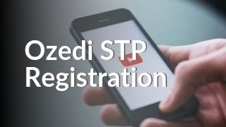 Hand holding phone with YouTube watching Ozedi STP Registration