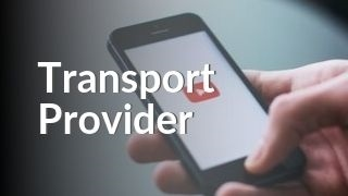 Hand holding phone with YouTube watching STP Transport Provider